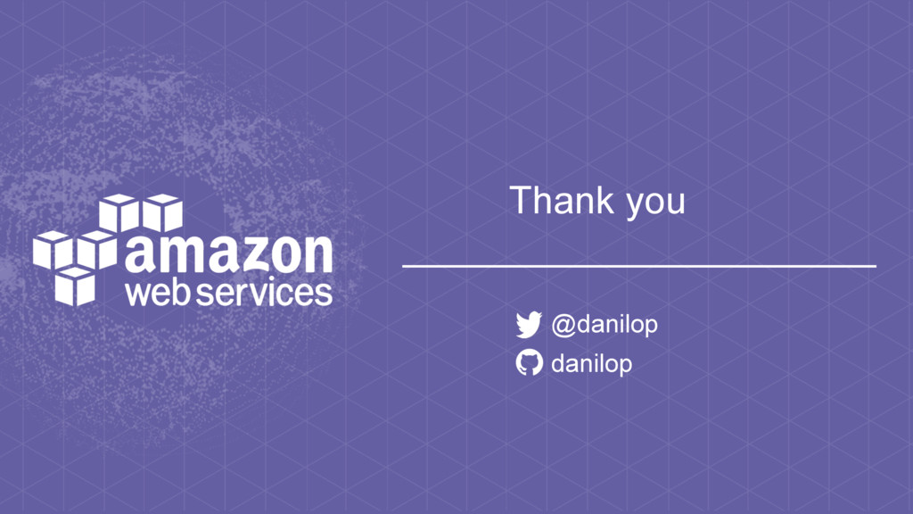 Thank you @danilop danilop