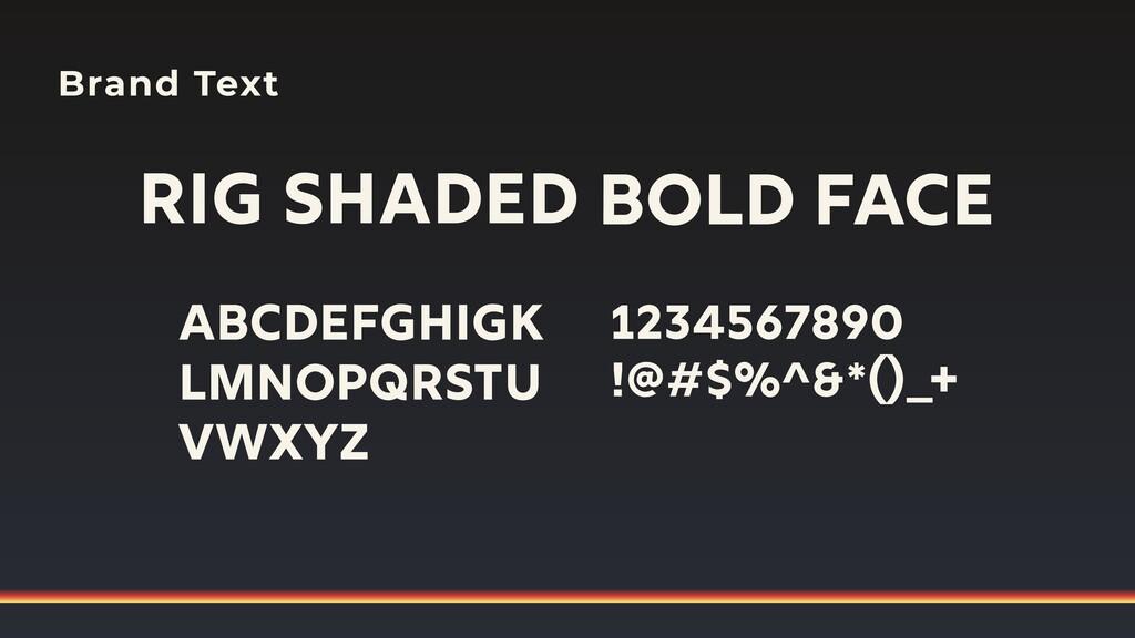 Brand Text