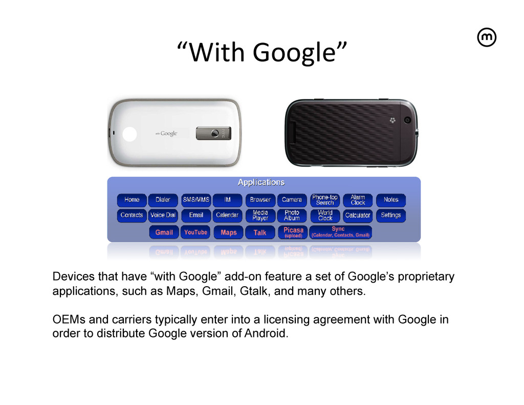 """""""With Google""""   Devices that have """"with G..."""