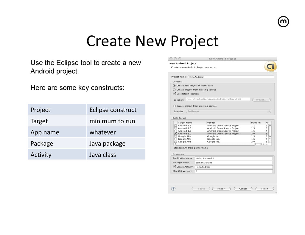 Create New Project   Use the Eclipse t...