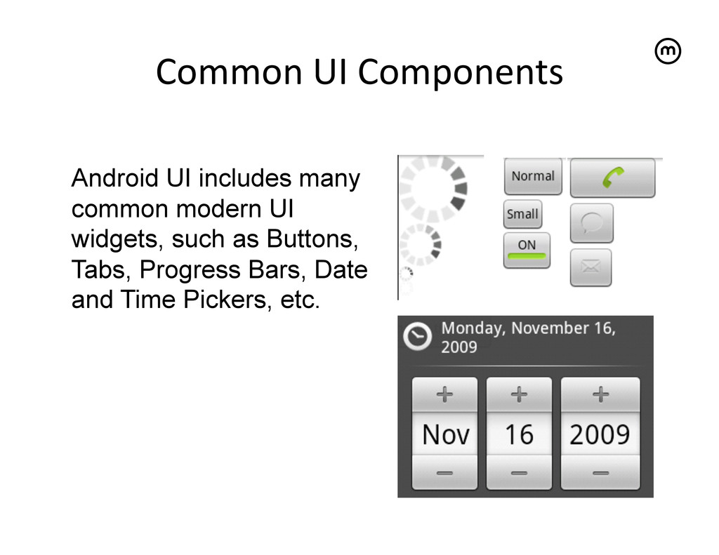Common UI Components   Android UI incl...