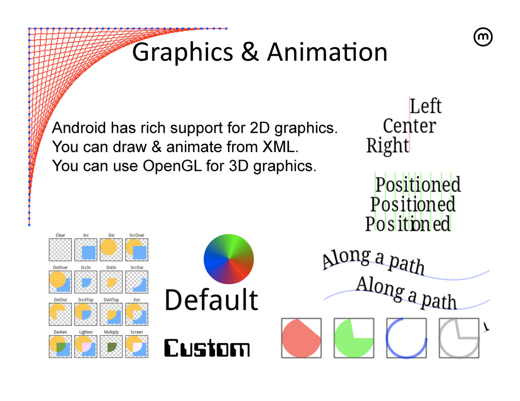 Graphics & Anima<on   Android has rich...