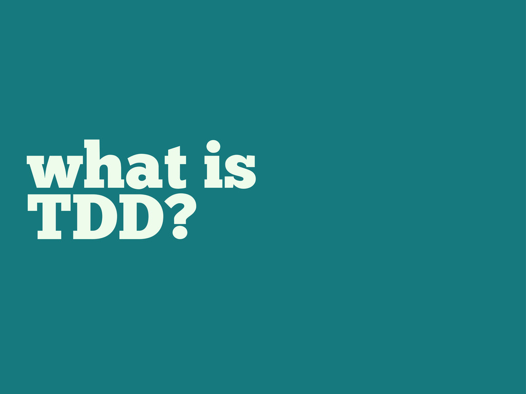 what is TDD?