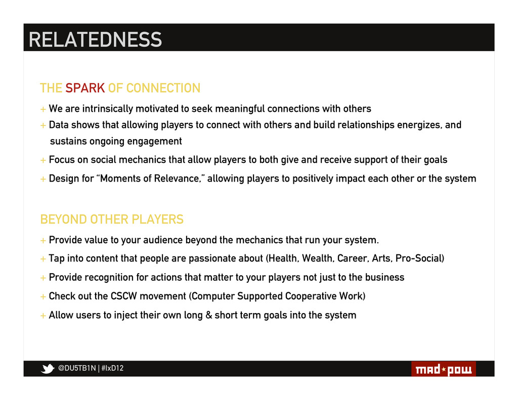 @DU5TB1N   #IxD12 THE SPARK OF CONNECTION + We ...