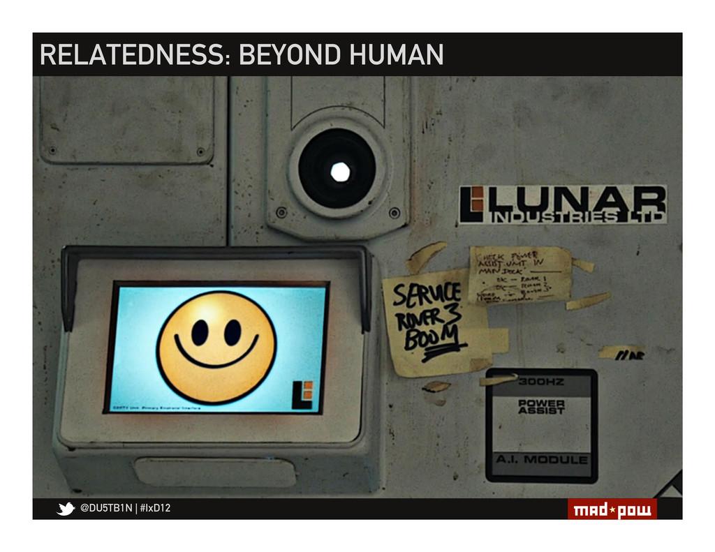 @DU5TB1N   #IxD12 RELATEDNESS: BEYOND HUMAN