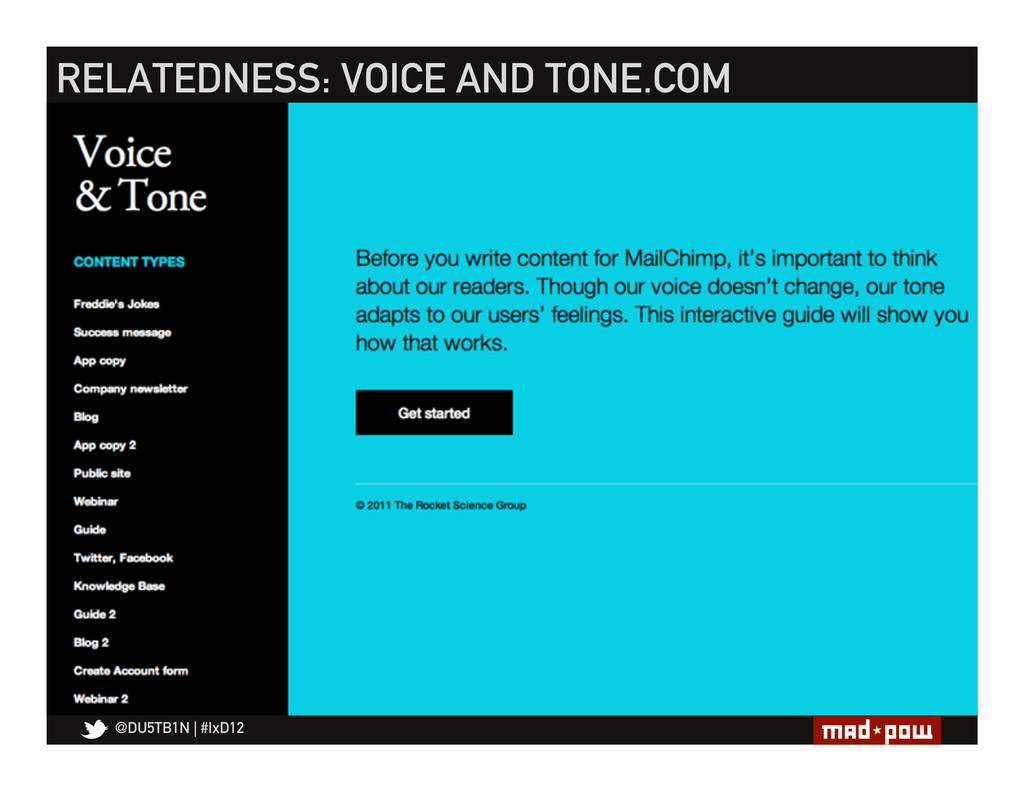 @DU5TB1N   #IxD12 RELATEDNESS: VOICE AND TONE.C...