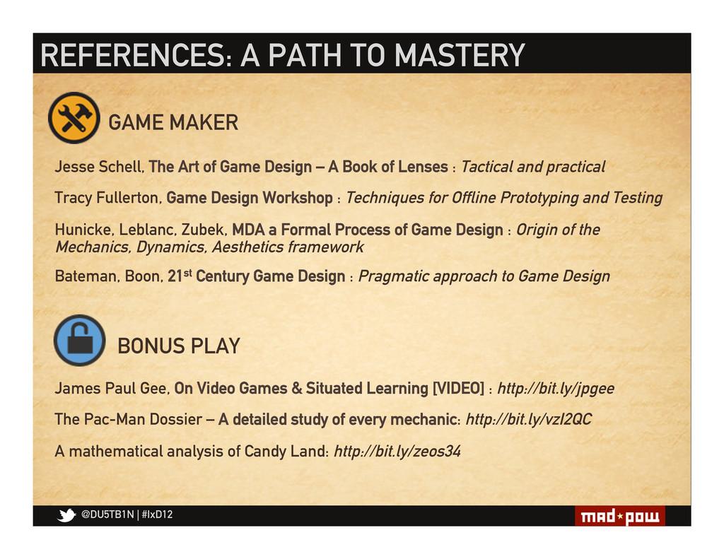 @DU5TB1N   #IxD12 Jesse Schell, The Art of Game...