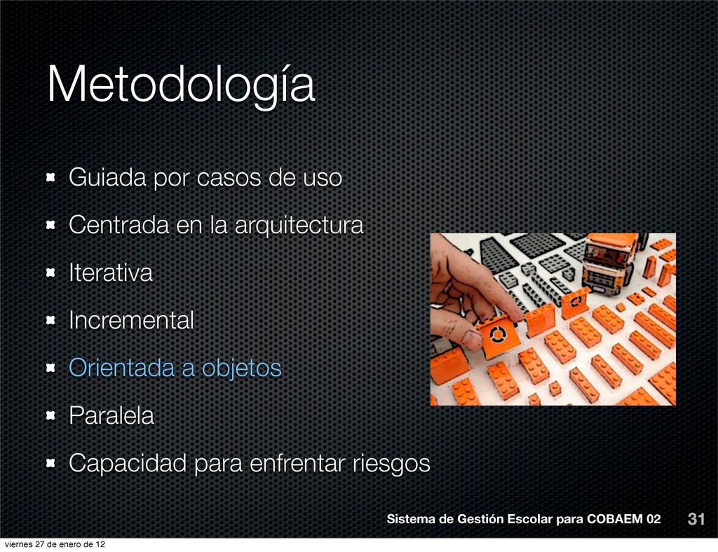 Metodología 31 Sistema de Gestión Escolar para ...
