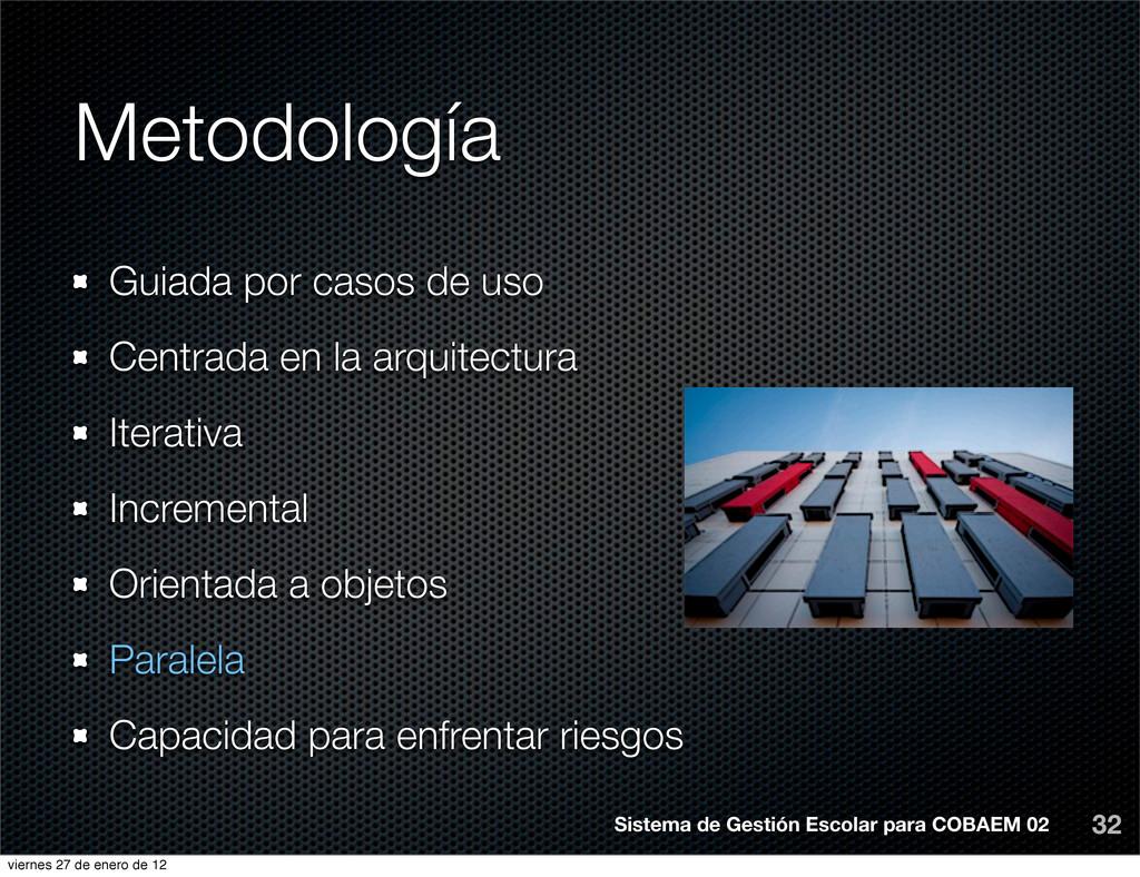 Metodología 32 Sistema de Gestión Escolar para ...