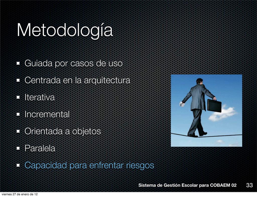 Metodología 33 Sistema de Gestión Escolar para ...