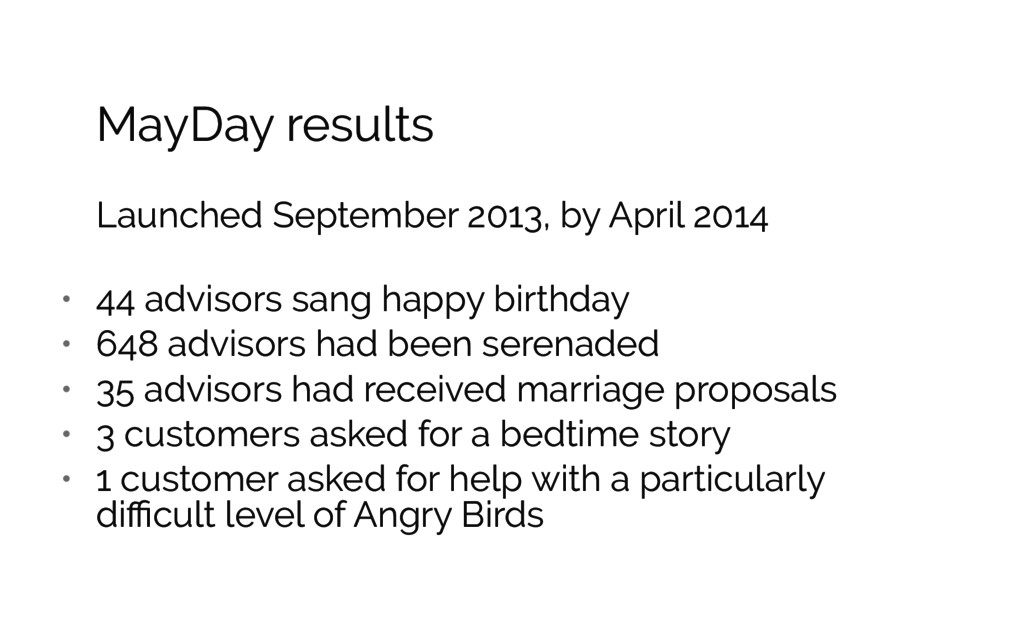 MayDay results Launched September 2013, by Apri...