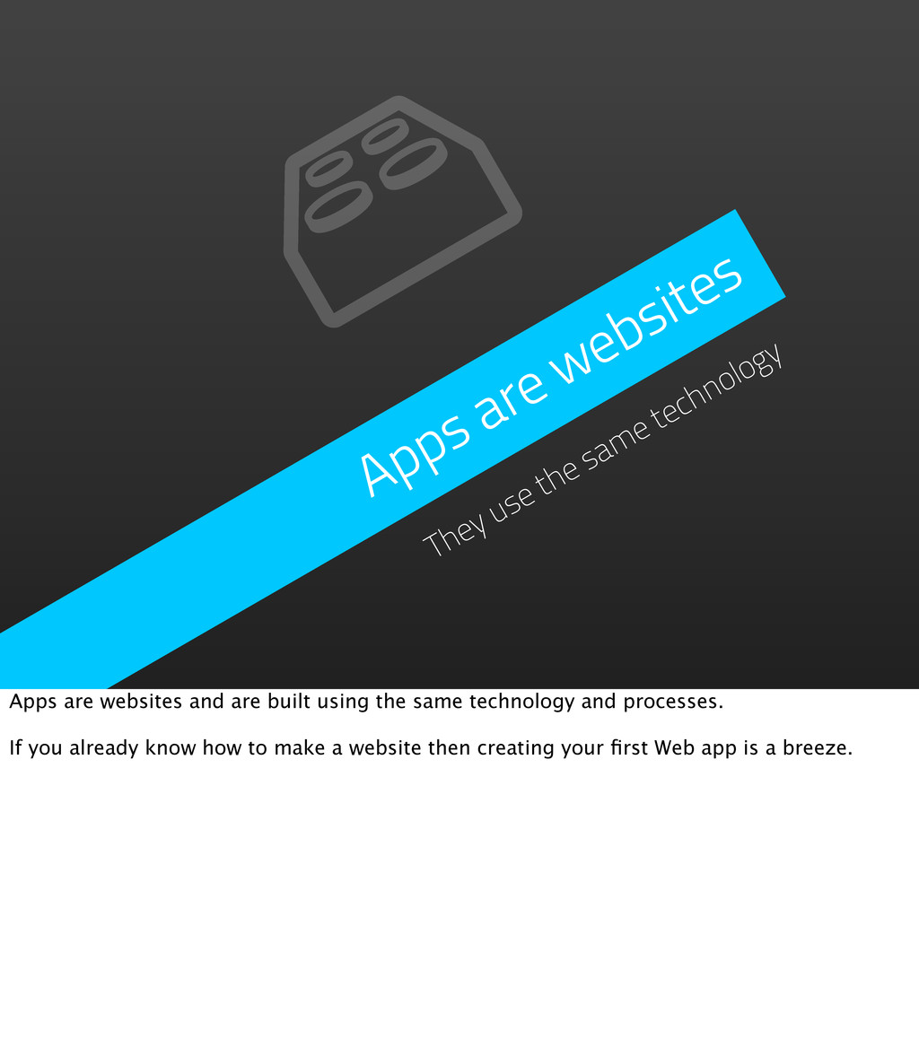 Apps are websites They use the same technology ...