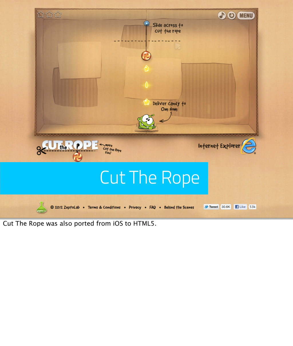 Cut The Rope Cut The Rope was also ported from ...