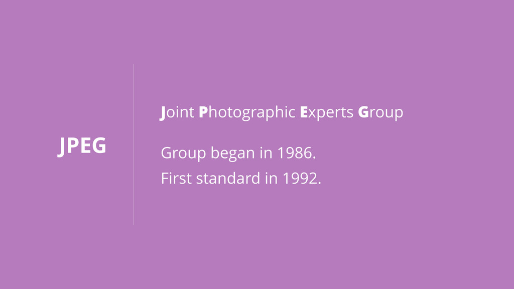 JPEG Joint Photographic Experts Group Group beg...