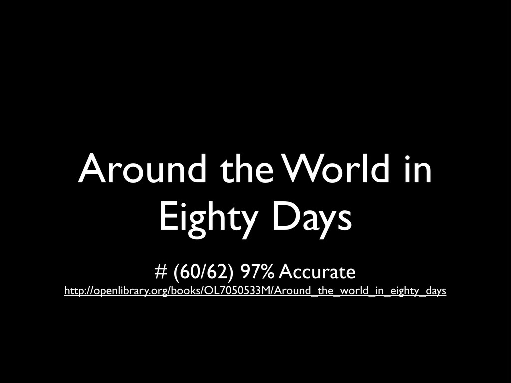 Around the World in Eighty Days # (60/62) 97% A...
