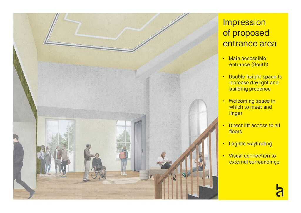 Impression of proposed entrance area • Main acc...