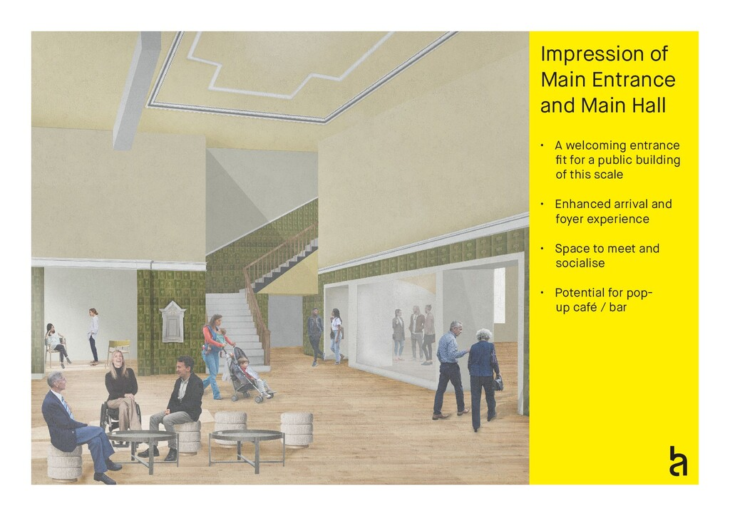 Impression of Main Entrance and Main Hall • A w...