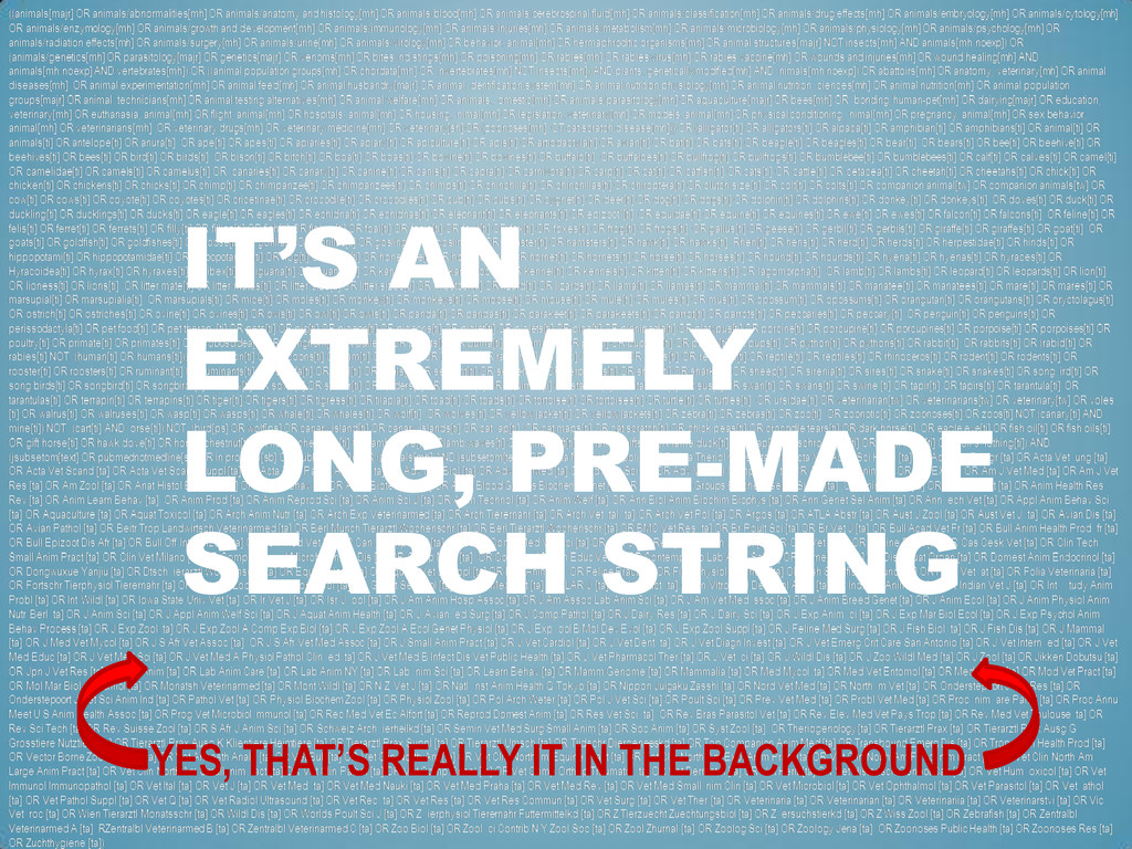 IT'S AN EXTREMELY LONG, PRE-MADE SEARCH STRING ...