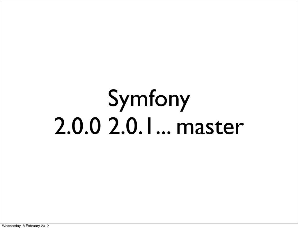 Symfony 2.0.0 2.0.1... master Wednesday, 8 Febr...