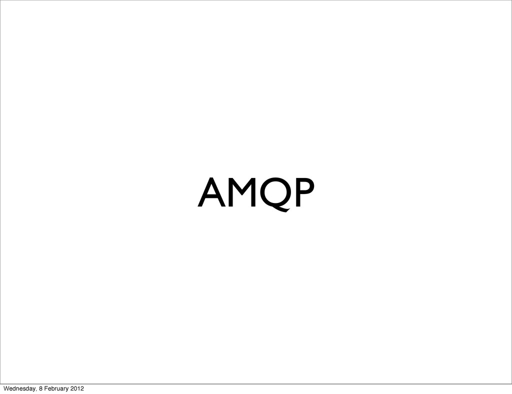 AMQP Wednesday, 8 February 2012