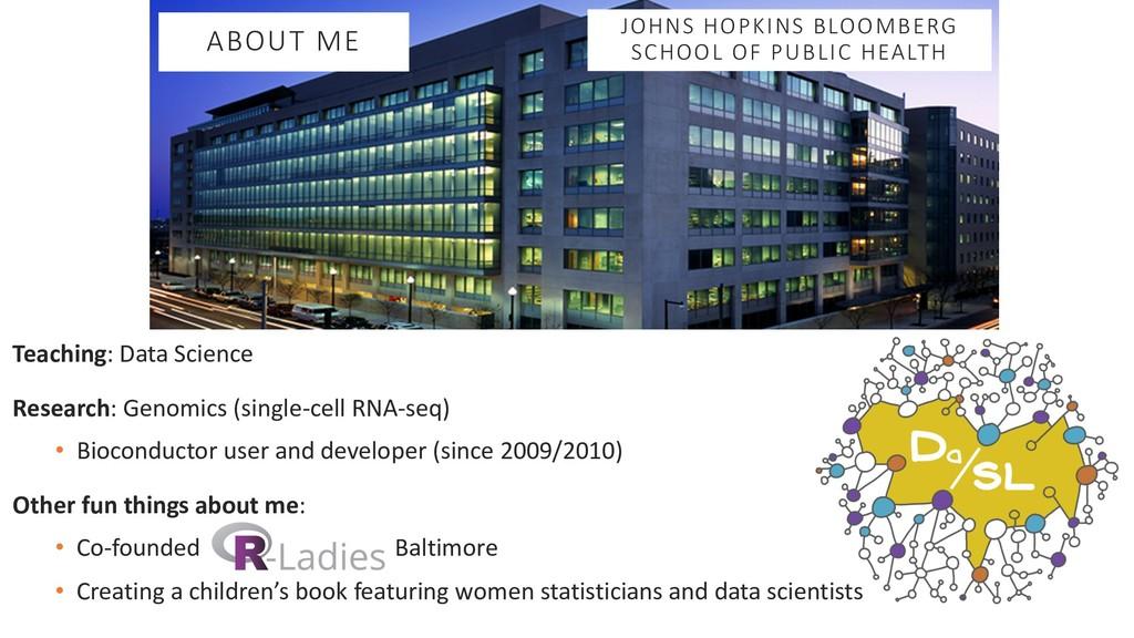 Teaching: Data Science Research: Genomics (sing...