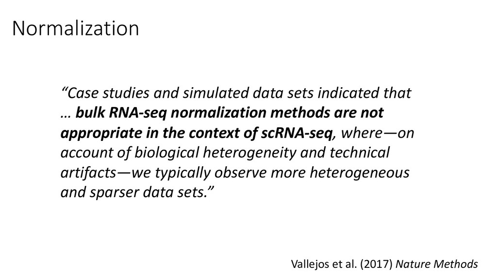 """Normalization """"Case studies and simulated data ..."""