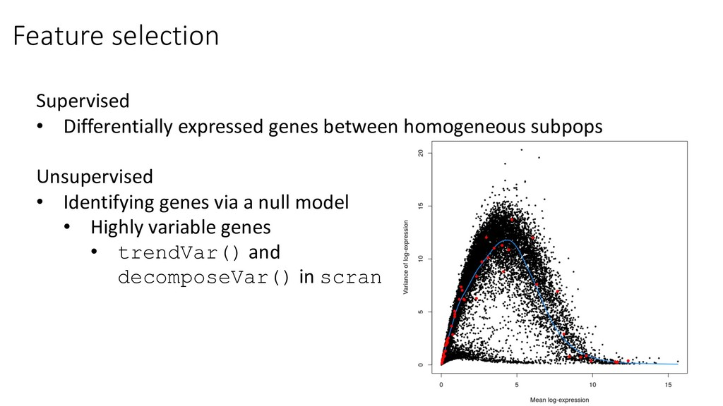 Feature selection Supervised • Differentially e...