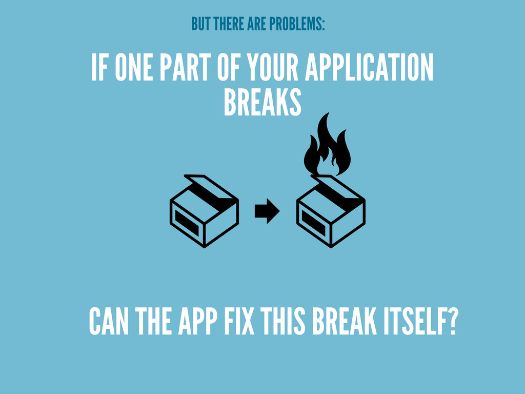 IF ONE PART OF YOUR APPLICATION BREAKS CAN THE ...