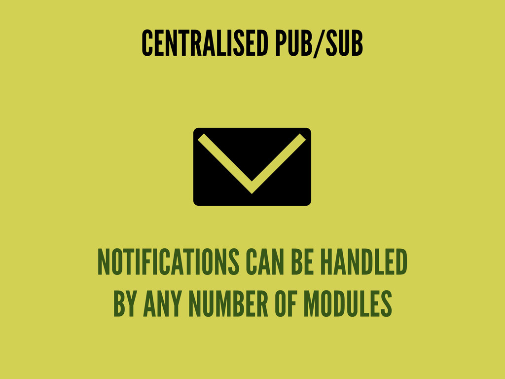 NOTIFICATIONS CAN BE HANDLED BY ANY NUMBER OF M...