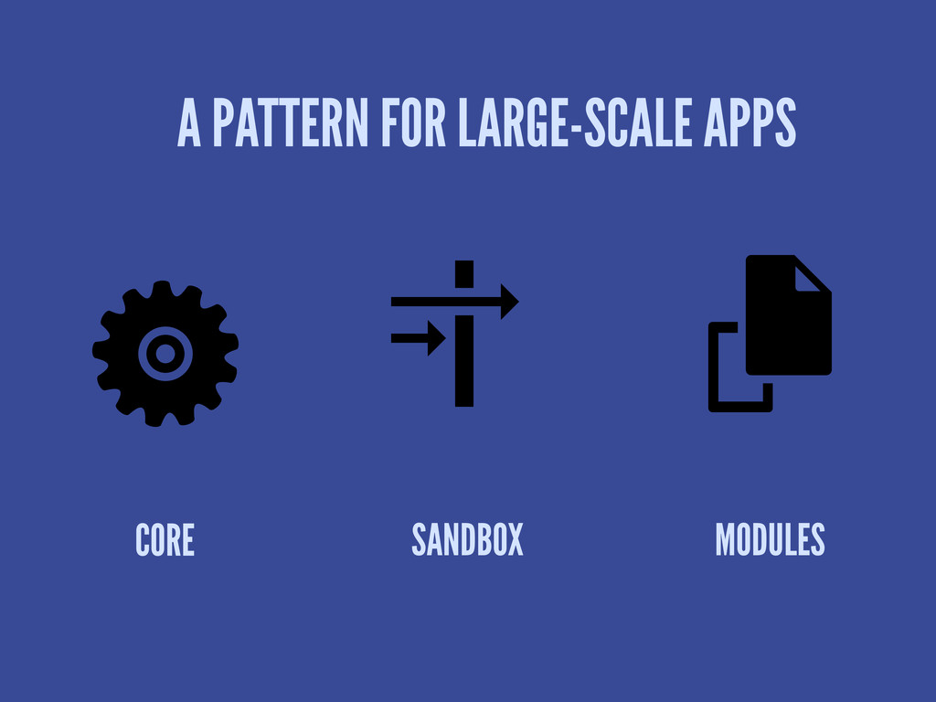 A PATTERN FOR LARGE-SCALE APPS CORE SANDBOX MOD...