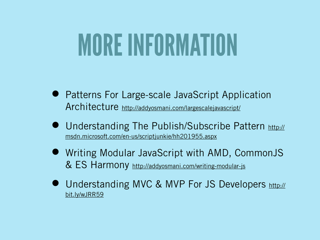 • Patterns For Large-scale JavaScript Applicati...