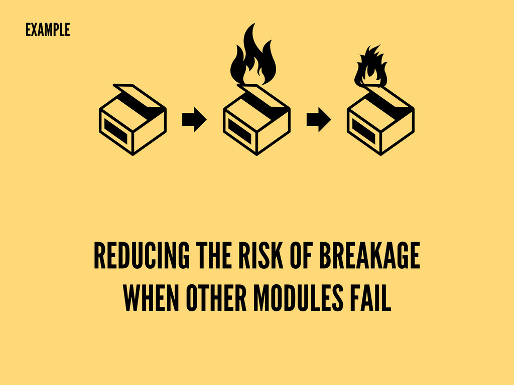 REDUCING THE RISK OF BREAKAGE WHEN OTHER MODULE...