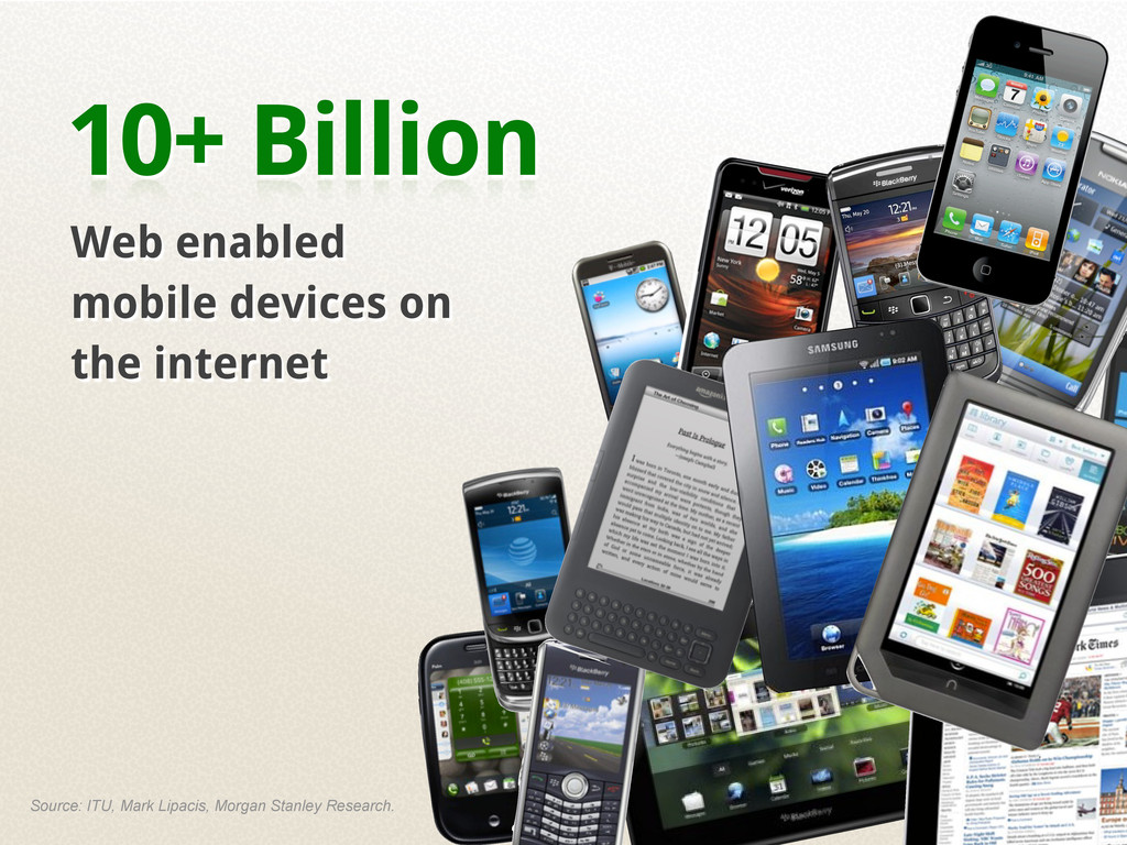 10+ Billion Web enabled mobile devices on the i...