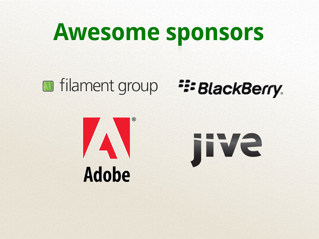 Awesome sponsors filament group