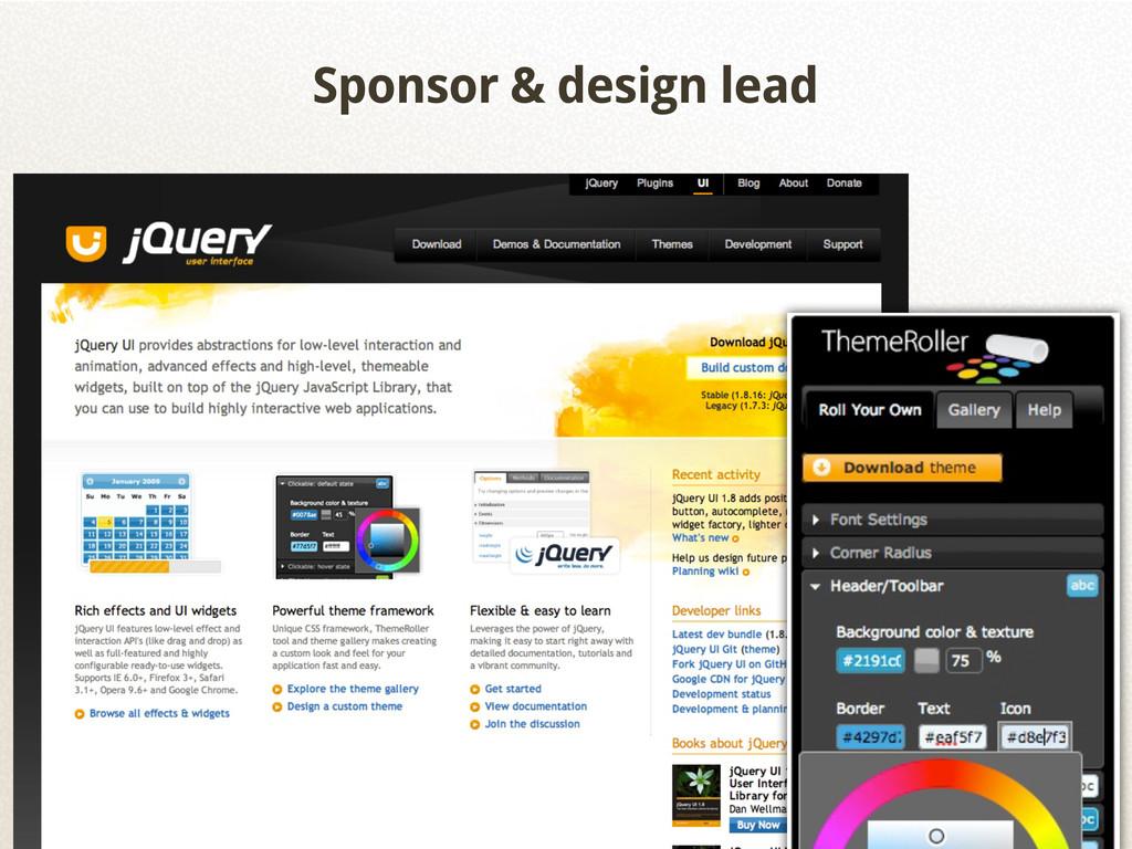 Sponsor & design lead