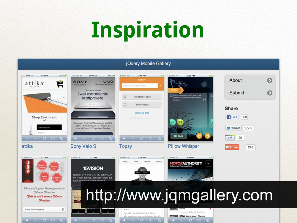 Inspiration http://www.jqmgallery.com