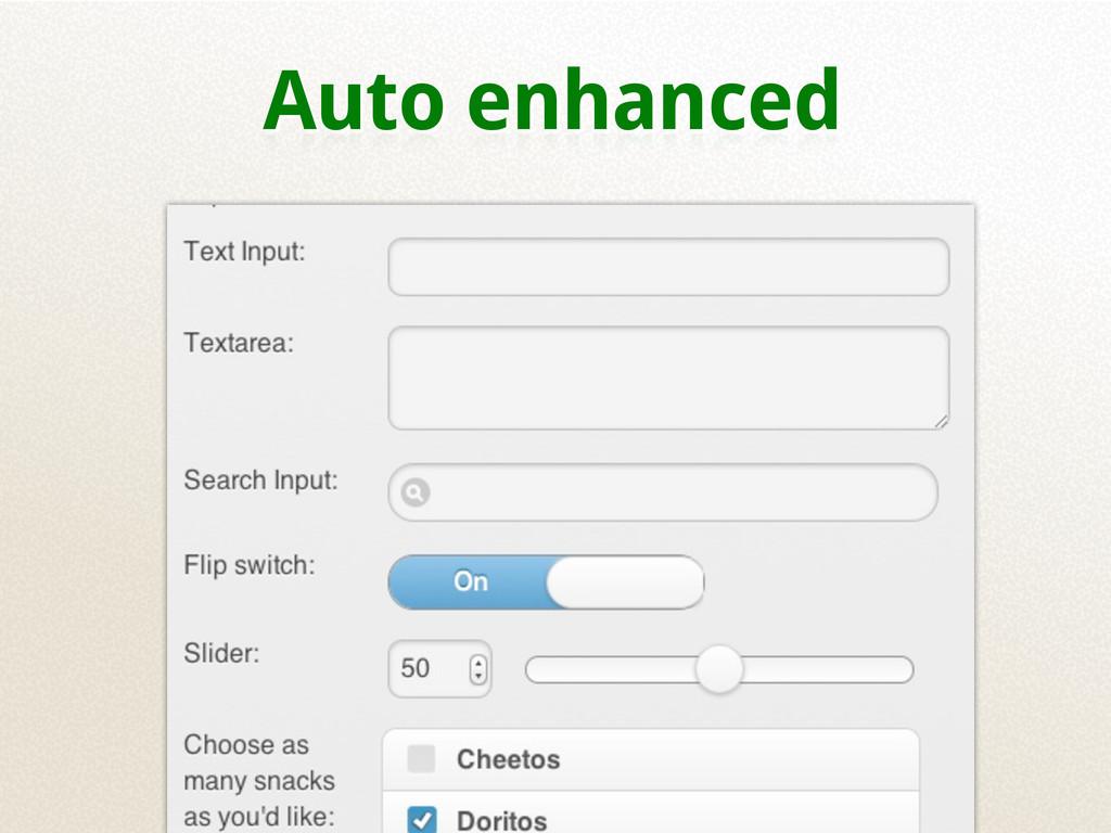 Auto enhanced