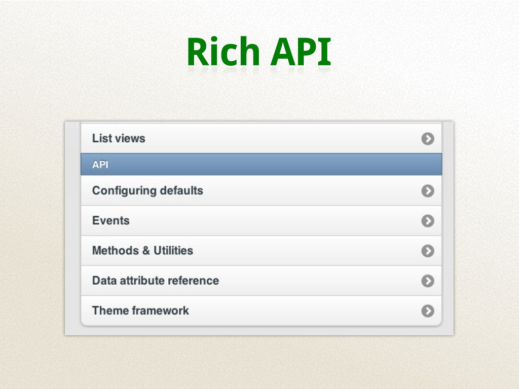 Rich API