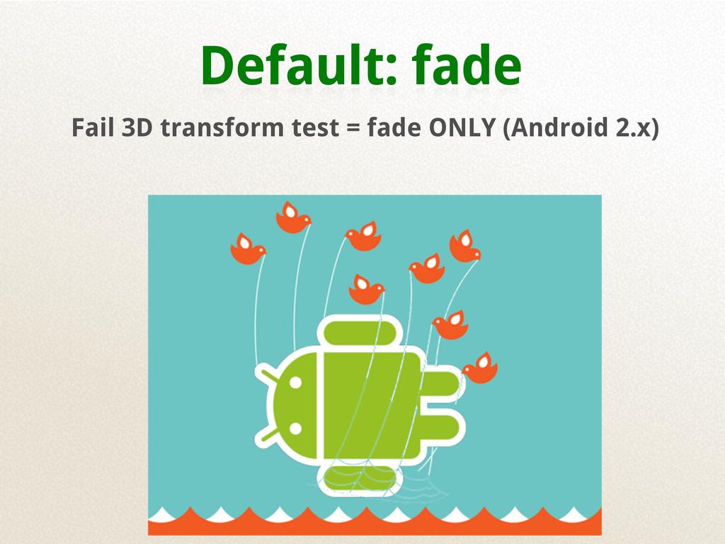 Default: fade Fail 3D transform test = fade ONL...