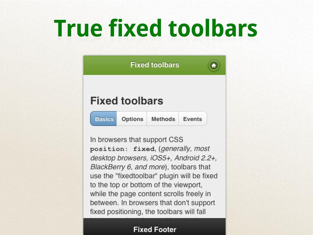 True fixed toolbars