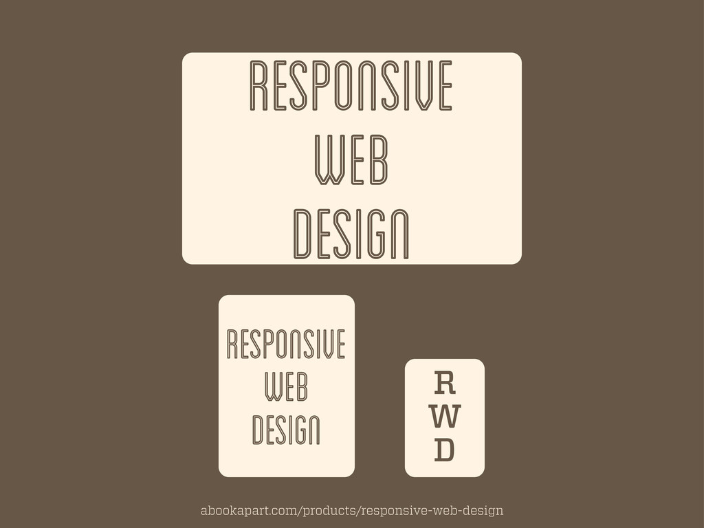 RESPONSIVE WEB DESIGN RESPONSIVE WEB DESIGN R W...
