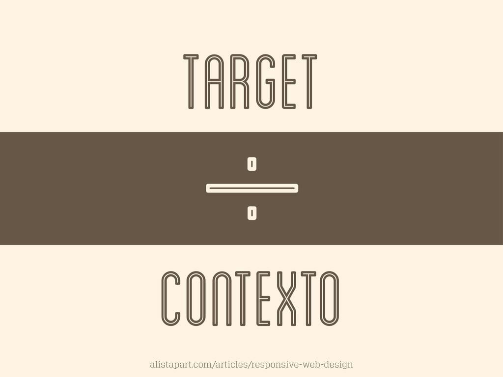 TARGET CONTEXTO I .. alistapart.com/articles/re...