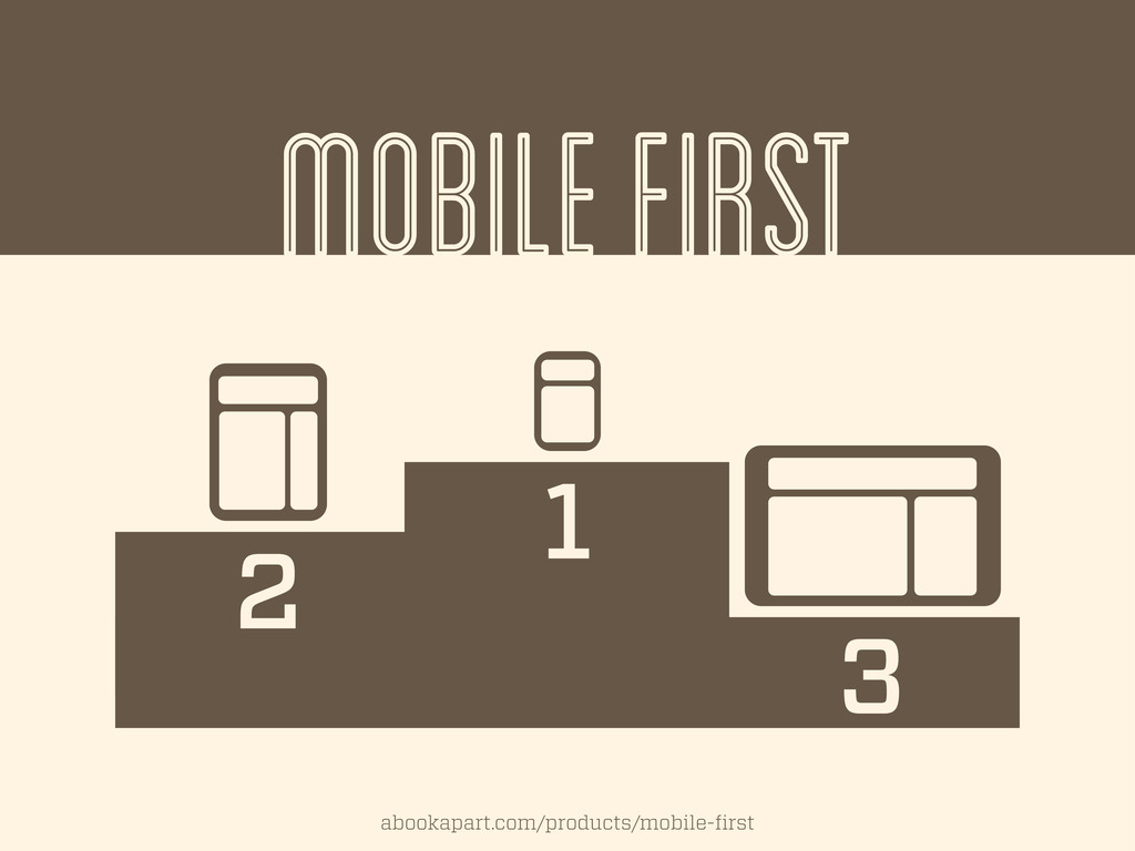 MOBILE FIRST 1 2 3 abookapart.com/products/mobi...