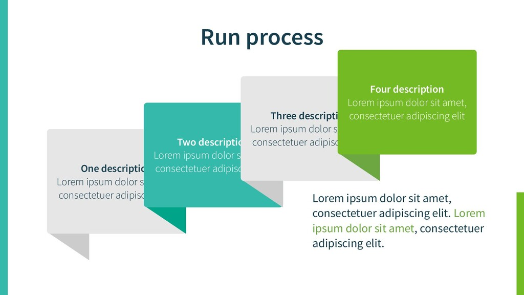 Run process One description Lorem ipsum dolor s...