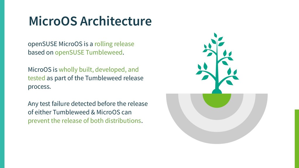 openSUSE MicroOS is a rolling release based on ...