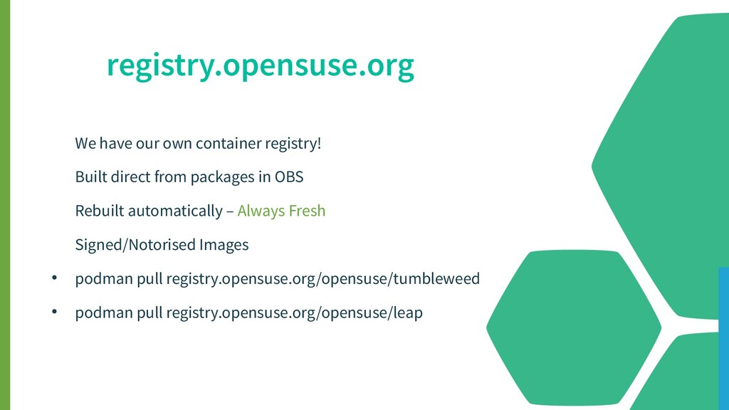 We have our own container registry! Built direc...