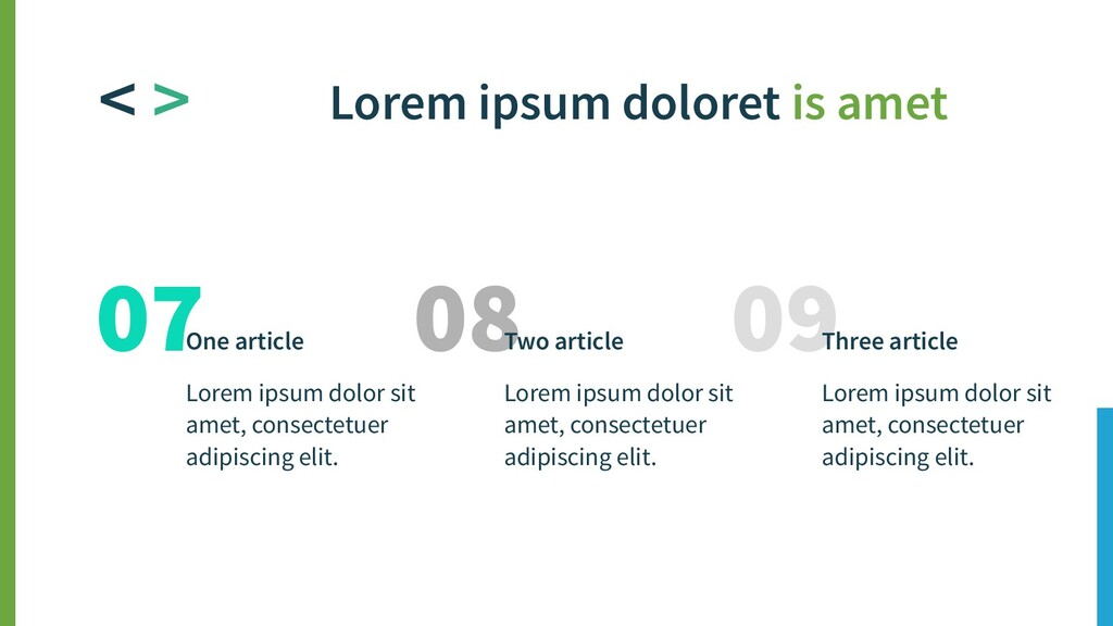 09 Three article Lorem ipsum dolor sit amet, co...