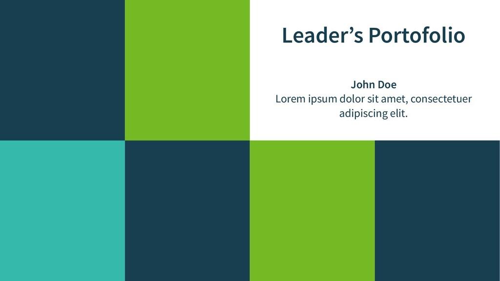Leader's Portofolio John Doe Lorem ipsum dolor ...
