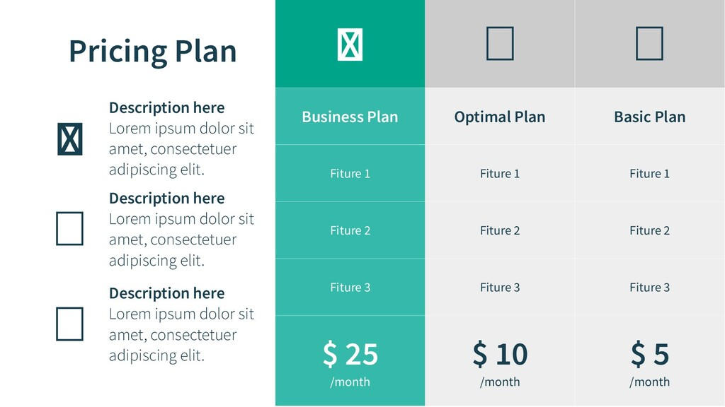 Pricing Plan    Business Plan Optimal Plan B...