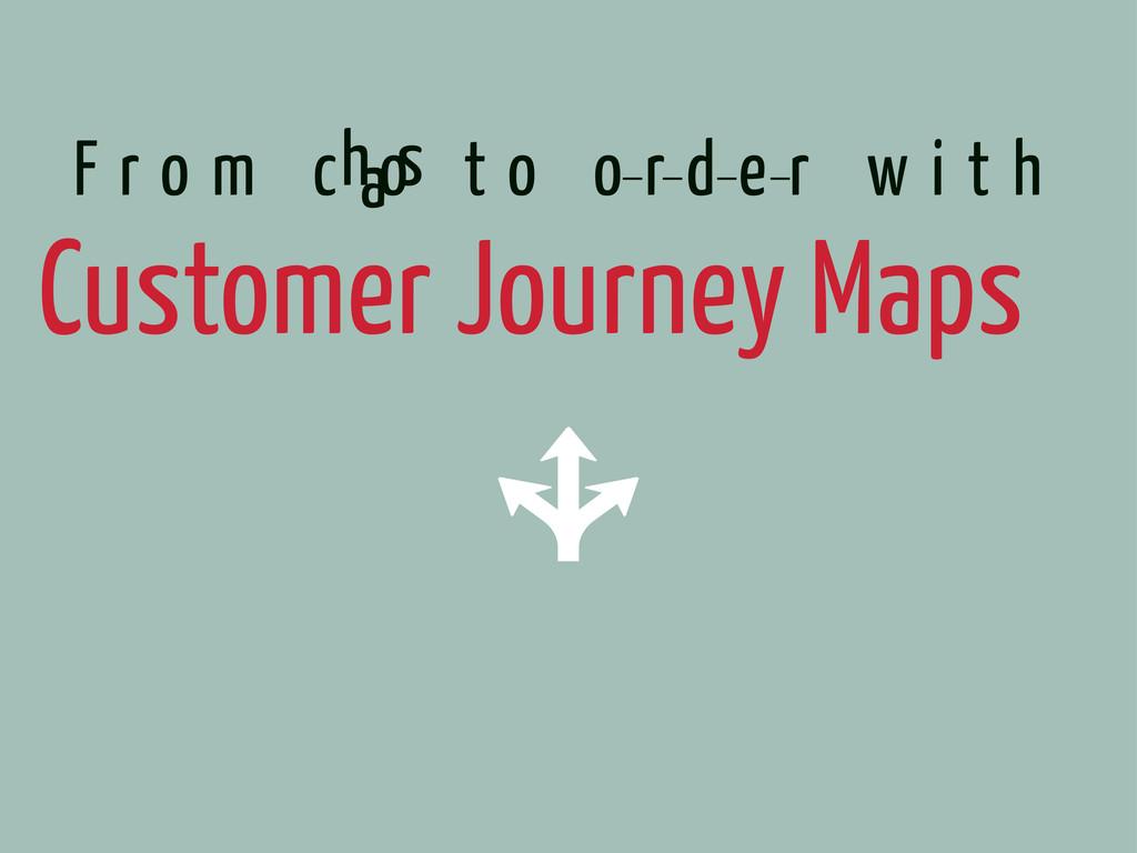 Customer Journey Maps F r o m c t o o r d e r w...